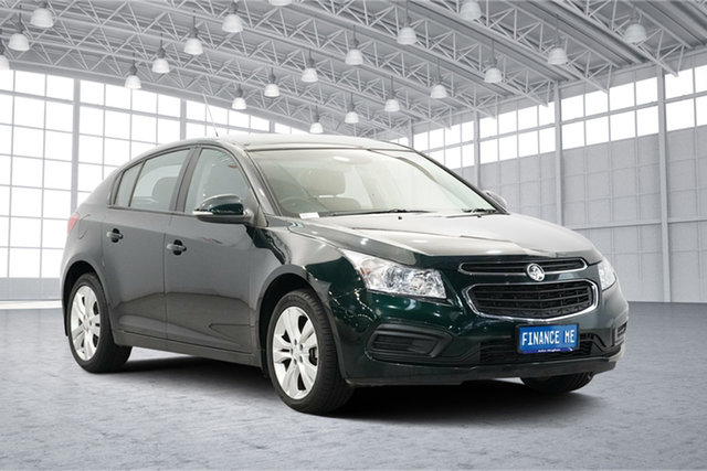 Used Holden Cruze JH Series II MY16 Equipe, 2015 Holden Cruze JH Series II MY16 Equipe Green 6 Speed Sports Automatic Hatchback