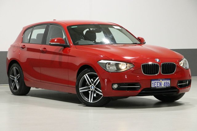 Used BMW 118i F20 MY13 Sport Line, 2013 BMW 118i F20 MY13 Sport Line Red 8 Speed Automatic Hatchback