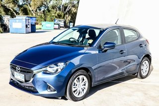 2018 Mazda 2 DJ2HAA Neo SKYACTIV-Drive Eternal Blue 6 Speed Sports Automatic Hatchback.