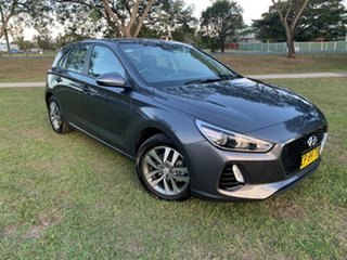 2018 Hyundai i30 PD MY18 Active D-CT Iron Gray 7 Speed Sports Automatic Dual Clutch Hatchback.