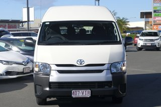 2014 Toyota HiAce KDH223R MY14 Commuter High Roof Super LWB Vanilla White 4 Speed Automatic Bus.