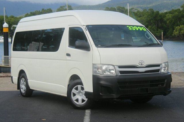 Used Toyota HiAce KDH223R MY11 Commuter High Roof Super LWB, 2012 Toyota HiAce KDH223R MY11 Commuter High Roof Super LWB White 4 Speed Automatic Bus