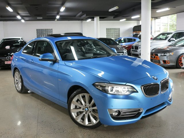 Used BMW 2 Series F22 LCI 230i Luxury Line, 2018 BMW 2 Series F22 LCI 230i Luxury Line Seaside Blue 8 Speed Sports Automatic Coupe