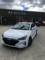 2018 Hyundai Elantra AD.2 MY19 Sport DCT Premium Polar White 7 Speed Sports Automatic Dual Clutch.
