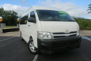 2012 Toyota HiAce KDH223R MY11 Commuter High Roof Super LWB White 4 Speed Automatic Bus.