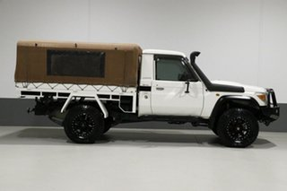 2010 Toyota Landcruiser VDJ79R 09 Upgrade GXL (4x4) White 5 Speed Manual Cab Chassis