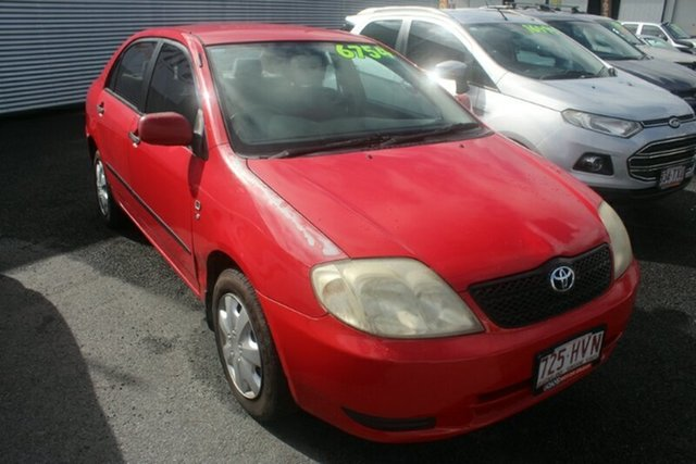 Used Toyota Corolla ZZE122R Ascent, 2004 Toyota Corolla ZZE122R Ascent Red 4 Speed Automatic Sedan