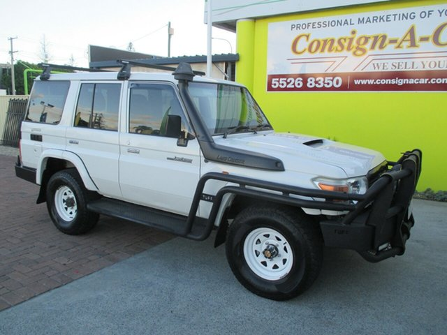 Used Toyota Landcruiser VDJ76R MY10 Workmate, 2010 Toyota Landcruiser VDJ76R MY10 Workmate White 5 Speed Manual Wagon