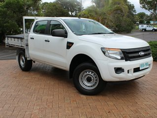 2013 Ford Ranger PX XL Double Cab 4x2 Hi-Rider White 6 Speed Sports Automatic Cab Chassis.