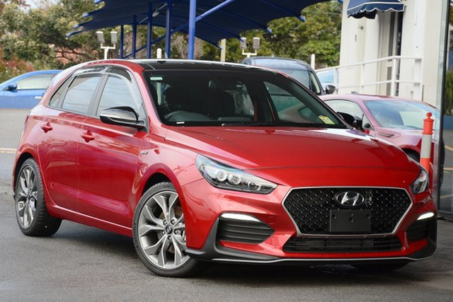 New Hyundai i30 PD.3 MY20 N Line D-CT Premium, 2019 Hyundai i30 PD.3 MY20 N Line D-CT Premium Firey Red 7 Speed Sports Automatic Dual Clutch