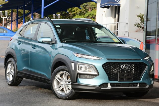 New Hyundai Kona OS.2 MY19 Active D-CT AWD, 2019 Hyundai Kona OS.2 MY19 Active D-CT AWD Blue Lagoon 7 Speed Sports Automatic Dual Clutch Wagon