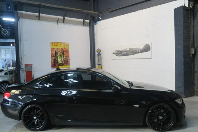 Used BMW 323i E92 MY08 Steptronic, 2008 BMW 323i E92 MY08 Steptronic Black 6 Speed Sports Automatic Coupe