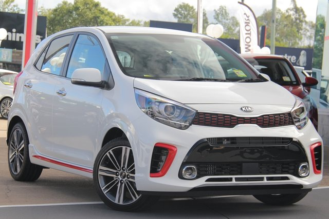 Demo Kia Picanto JA MY19 GT, 2019 Kia Picanto JA MY19 GT Clear White 5 Speed Manual Hatchback