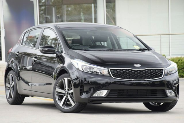 New Kia Cerato BD MY19 Sport+, 2019 Kia Cerato BD MY19 Sport+ Aurora Black Pearl 6 Speed Sports Automatic Hatchback
