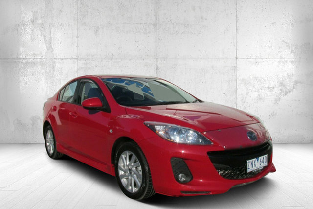 Used Mazda 3 BL1072 SP20 SKYACTIV-Drive SKYACTIV, 2012 Mazda 3 BL1072 SP20 SKYACTIV-Drive SKYACTIV Red 6 Speed Sports Automatic Sedan