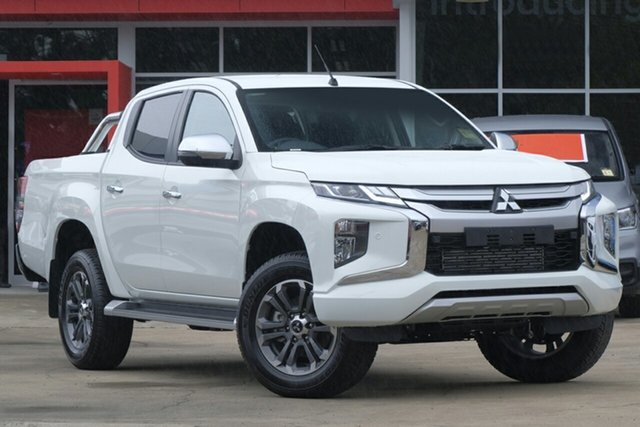 New Mitsubishi Triton MR MY19 GLS Double Cab, 2019 Mitsubishi Triton MR MY19 GLS Double Cab White 6 Speed Sports Automatic Utility