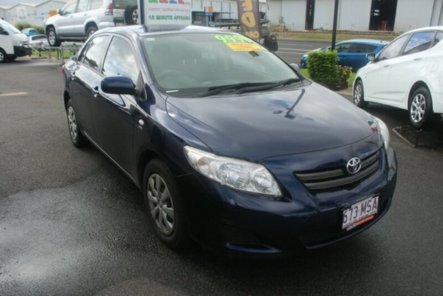 Used Toyota Corolla ZRE152R Ascent, 2009 Toyota Corolla ZRE152R Ascent Blue 6 Speed Manual Sedan