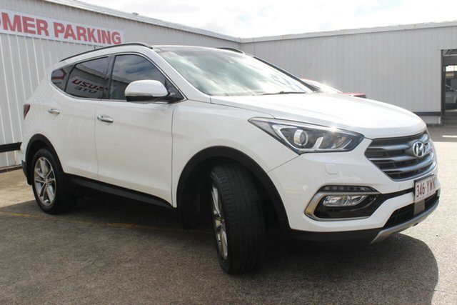 Used Hyundai Santa Fe DM3 MY17 SR, 2016 Hyundai Santa Fe DM3 MY17 SR Pure White 6 Speed Sports Automatic Wagon