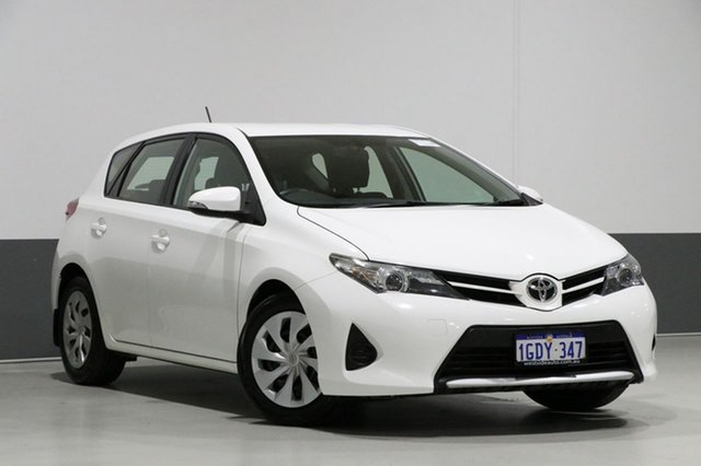 Used Toyota Corolla ZRE182R MY15 Ascent, 2015 Toyota Corolla ZRE182R MY15 Ascent White 7 Speed CVT Auto Sequential Hatchback