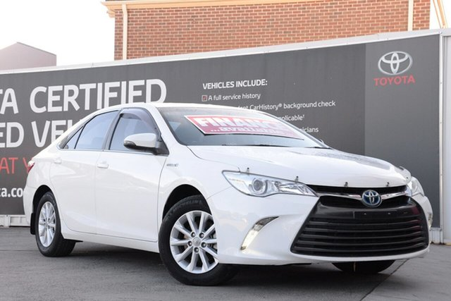 Used Toyota Camry AVV50R Altise, 2015 Toyota Camry AVV50R Altise Diamond White 1 Speed Constant Variable Sedan Hybrid