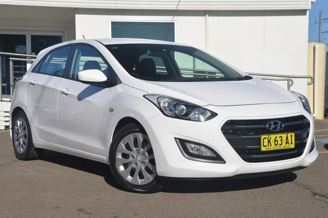 Used Hyundai i30 GD4 Series II MY17 Active, 2016 Hyundai i30 GD4 Series II MY17 Active White 6 Speed Sports Automatic Hatchback