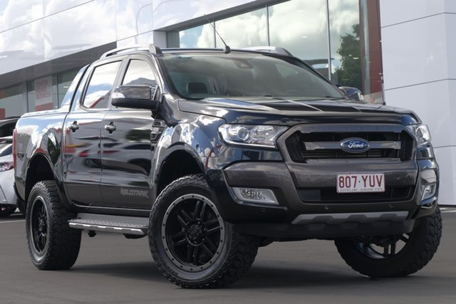 Used Ford Ranger PX MkII Wildtrak Double Cab, 2016 Ford Ranger PX MkII Wildtrak Double Cab Black/Grey 6 Speed Sports Automatic Utility