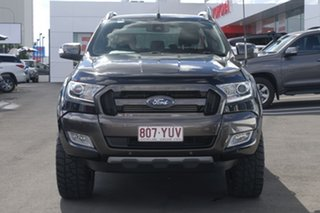 2016 Ford Ranger PX MkII Wildtrak Double Cab Black/Grey 6 Speed Sports Automatic Utility