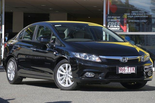 Used Honda Civic 9th Gen Ser II VTi-LN, 2012 Honda Civic 9th Gen Ser II VTi-LN Black 5 Speed Sports Automatic Sedan