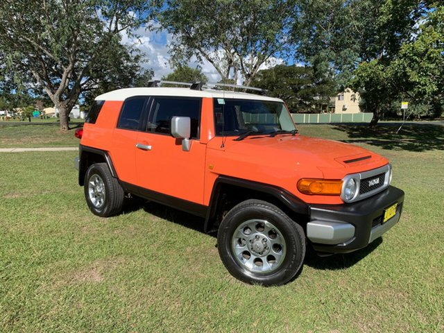 Used Toyota FJ Cruiser GSJ15R , 2012 Toyota FJ Cruiser GSJ15R Orange 5 Speed Automatic Wagon