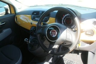2014 Fiat 500 Series 1 POP Yellow 5 Speed Manual Hatchback.