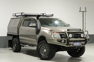 2012 Ford Ranger PX XLT 3.2 (4x4) Gold 6 Speed Automatic Dual Cab Utility.