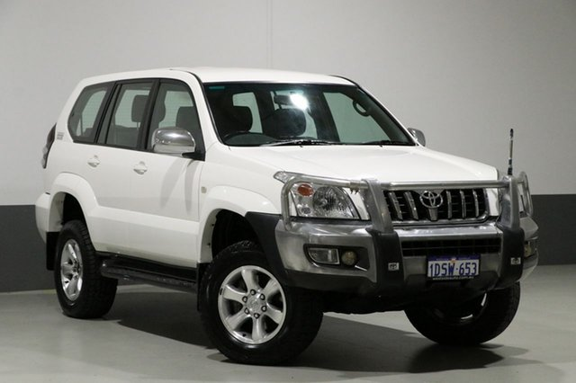 Used Toyota Landcruiser Prado KZJ120R GXL (4x4), 2005 Toyota Landcruiser Prado KZJ120R GXL (4x4) White 5 Speed Manual Wagon
