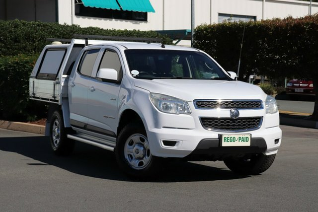 Used Holden Colorado RG MY13 LX Crew Cab, 2012 Holden Colorado RG MY13 LX Crew Cab White 6 Speed Sports Automatic Cab Chassis