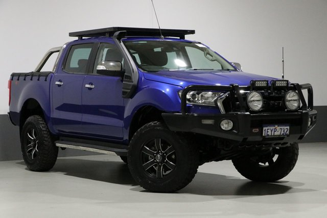 Used Ford Ranger PX MkII XLT 3.2 (4x4), 2015 Ford Ranger PX MkII XLT 3.2 (4x4) Blue 6 Speed Manual Dual Cab Utility