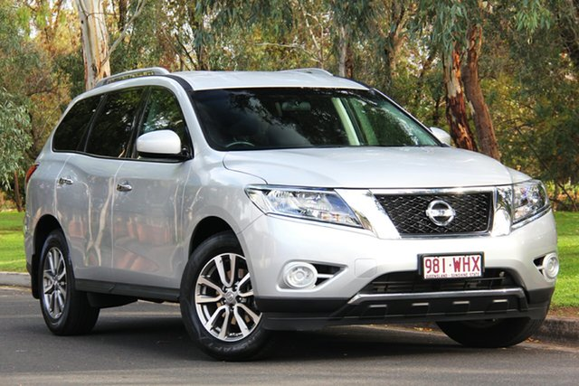 Used Nissan Pathfinder R52 MY15 ST X-tronic 4WD, 2015 Nissan Pathfinder R52 MY15 ST X-tronic 4WD Silver 1 Speed Constant Variable Wagon