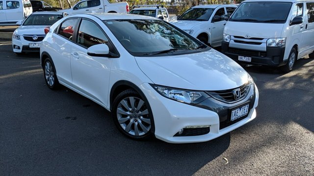 Used Honda Civic 9th Gen MY13 VTi-LN, 2013 Honda Civic 9th Gen MY13 VTi-LN White 5 Speed Sports Automatic Hatchback