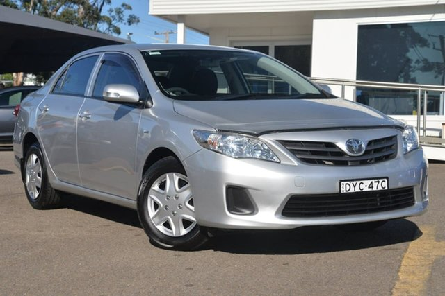 Used Toyota Corolla ZRE152R MY11 Ascent, 2011 Toyota Corolla ZRE152R MY11 Ascent Silver 4 Speed Automatic Sedan