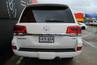 2016 Toyota Landcruiser VDJ200R Sahara Glacier White 6 Speed Sports Automatic Wagon