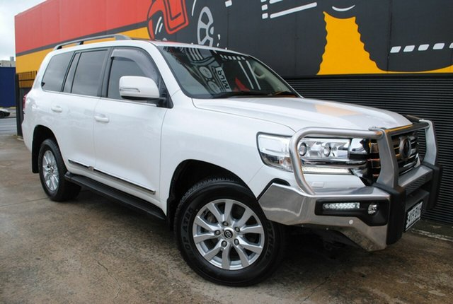 Used Toyota Landcruiser VDJ200R Sahara, 2016 Toyota Landcruiser VDJ200R Sahara Glacier White 6 Speed Sports Automatic Wagon