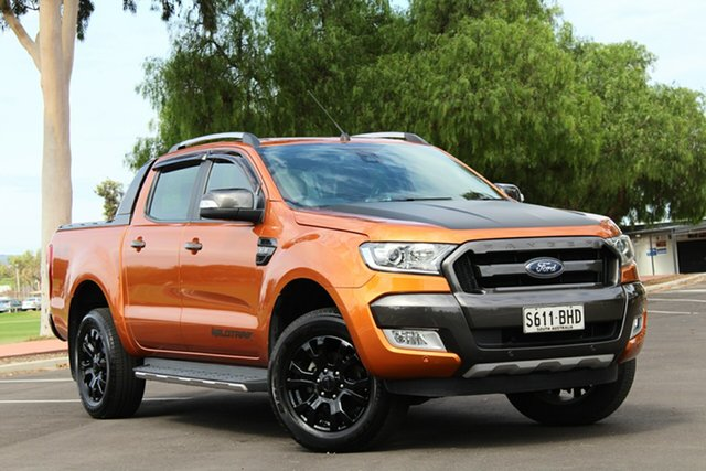 Used Ford Ranger PX MkII Wildtrak Double Cab, 2015 Ford Ranger PX MkII Wildtrak Double Cab Orange 6 Speed Sports Automatic Utility