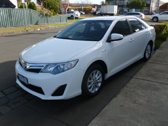 Used Toyota Camry AVV50R Hybrid H, 2013 Toyota Camry AVV50R Hybrid H White 1 Speed Constant Variable Sedan Hybrid