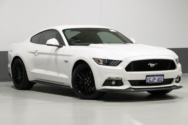 Used Ford Mustang FM MY17 Fastback GT 5.0 V8, 2017 Ford Mustang FM MY17 Fastback GT 5.0 V8 Pearl White 6 Speed Automatic Coupe