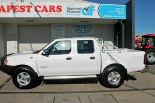 2014 Nissan Navara D22 White Manual Dual Cab.