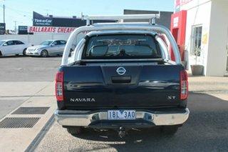 2014 Nissan Navara D40 MY12 ST (4x4) Blue 6 Speed Manual Dual Cab Pick-up