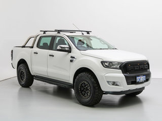 2015 Ford Ranger PX MkII XLT 3.2 (4x4) White 6 Speed Manual Dual Cab Utility.