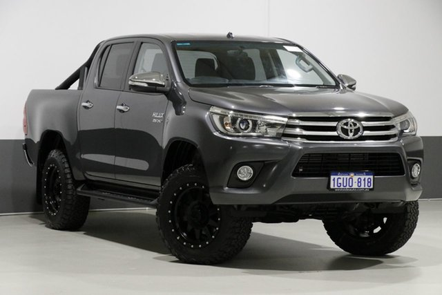 Used Toyota Hilux GUN126R SR5 (4x4), 2016 Toyota Hilux GUN126R SR5 (4x4) Graphite 6 Speed Automatic Dual Cab Utility