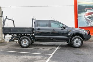 2013 Ford Ranger PX XL Double Cab Black 6 Speed Manual Cab Chassis.