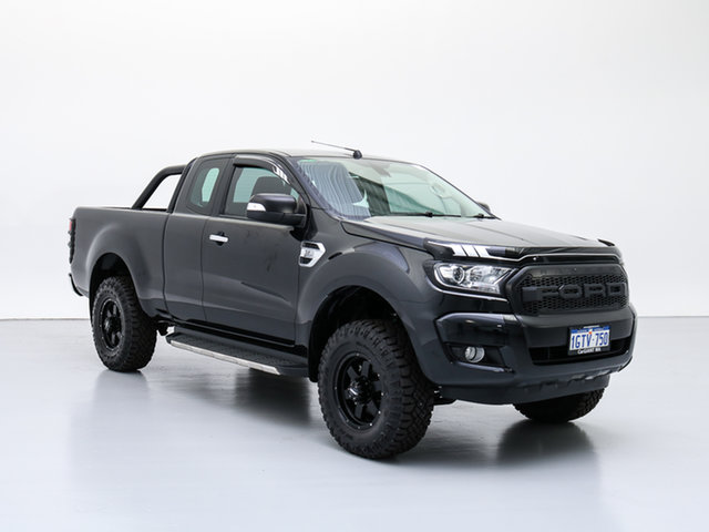Used Ford Ranger PX MkII XLT 3.2 (4x4), 2015 Ford Ranger PX MkII XLT 3.2 (4x4) Black 6 Speed Automatic Super Cab Utility
