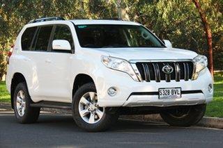 2014 Toyota Landcruiser Prado KDJ150R MY14 GXL White 5 Speed Sports Automatic Wagon.