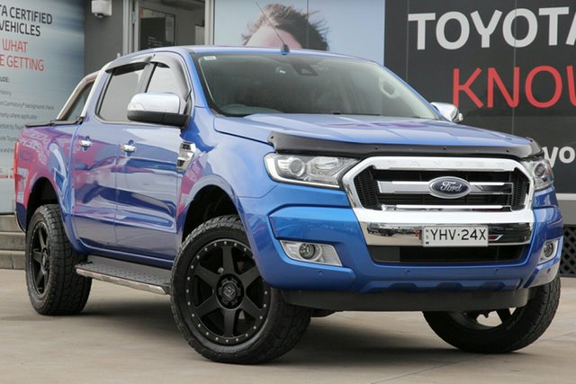 Used Ford Ranger PX MkII MY18 XLT 3.2 (4x4), 2018 Ford Ranger PX MkII MY18 XLT 3.2 (4x4) Blue 6 Speed Manual Dual Cab Utility